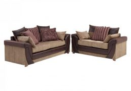 mayfair 2 and 3 seater sofa suite brown