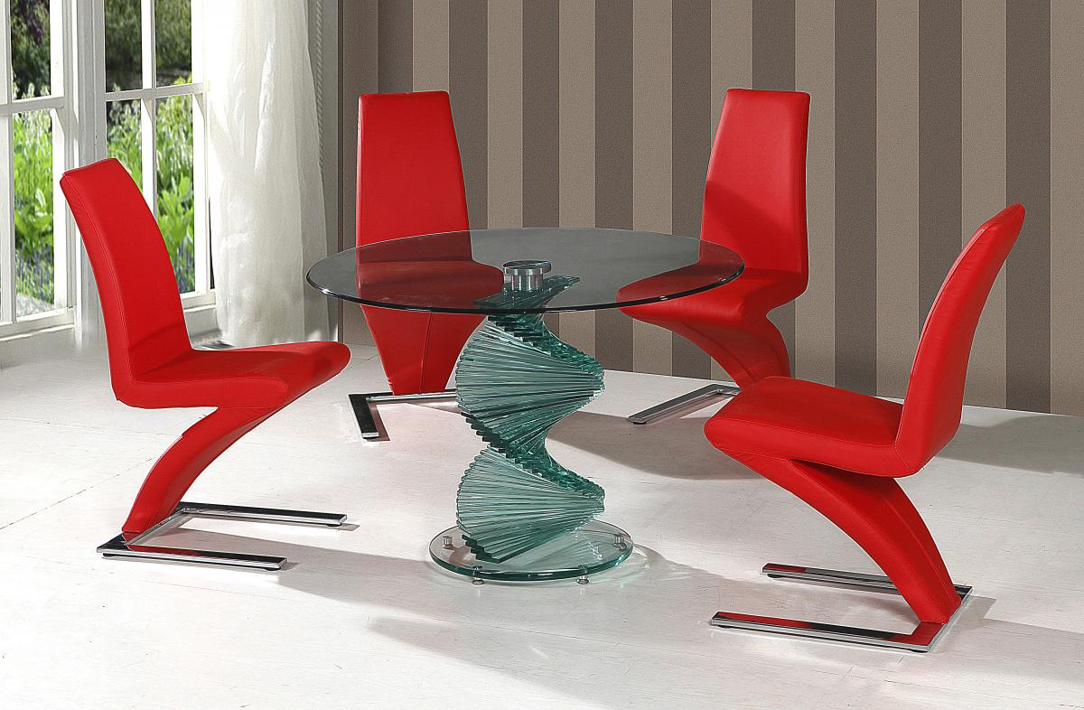 Cordoba Clear Glass Table Dining Set
