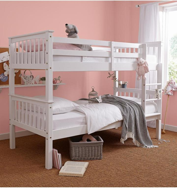 madison childrens itm kids bunk wooden beds bed snuggle single description painted white
