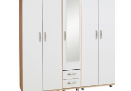 Regal-5-Door-Wardrobe-With-2-Drawers-And-Mirror